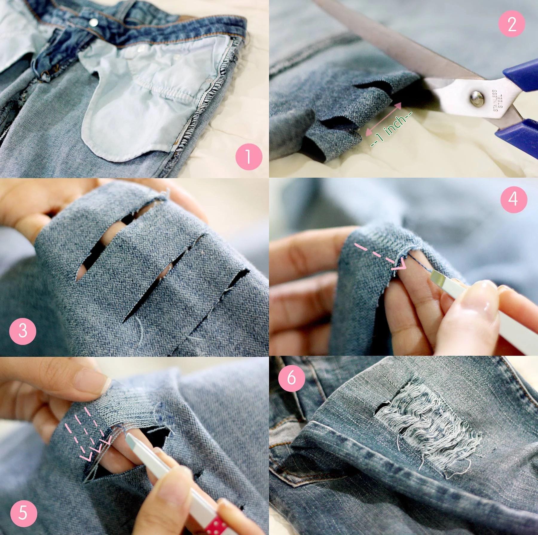 Рваные джинсы своими руками мастер 381
