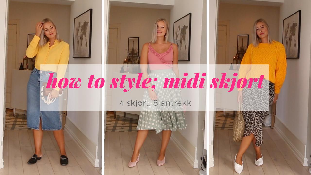 Video: hvordan style midi skjørt