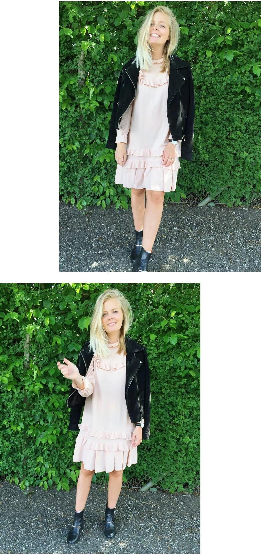Wearing Amanda Bugge Dress