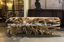 Teak Root Table Furniture, Reclaimed teak root, Jepara Furniture, Jepara Green Furniture