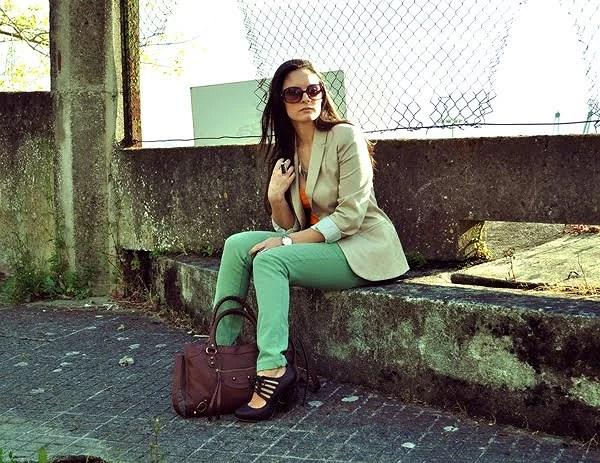 Mint Green & Tangerine Look