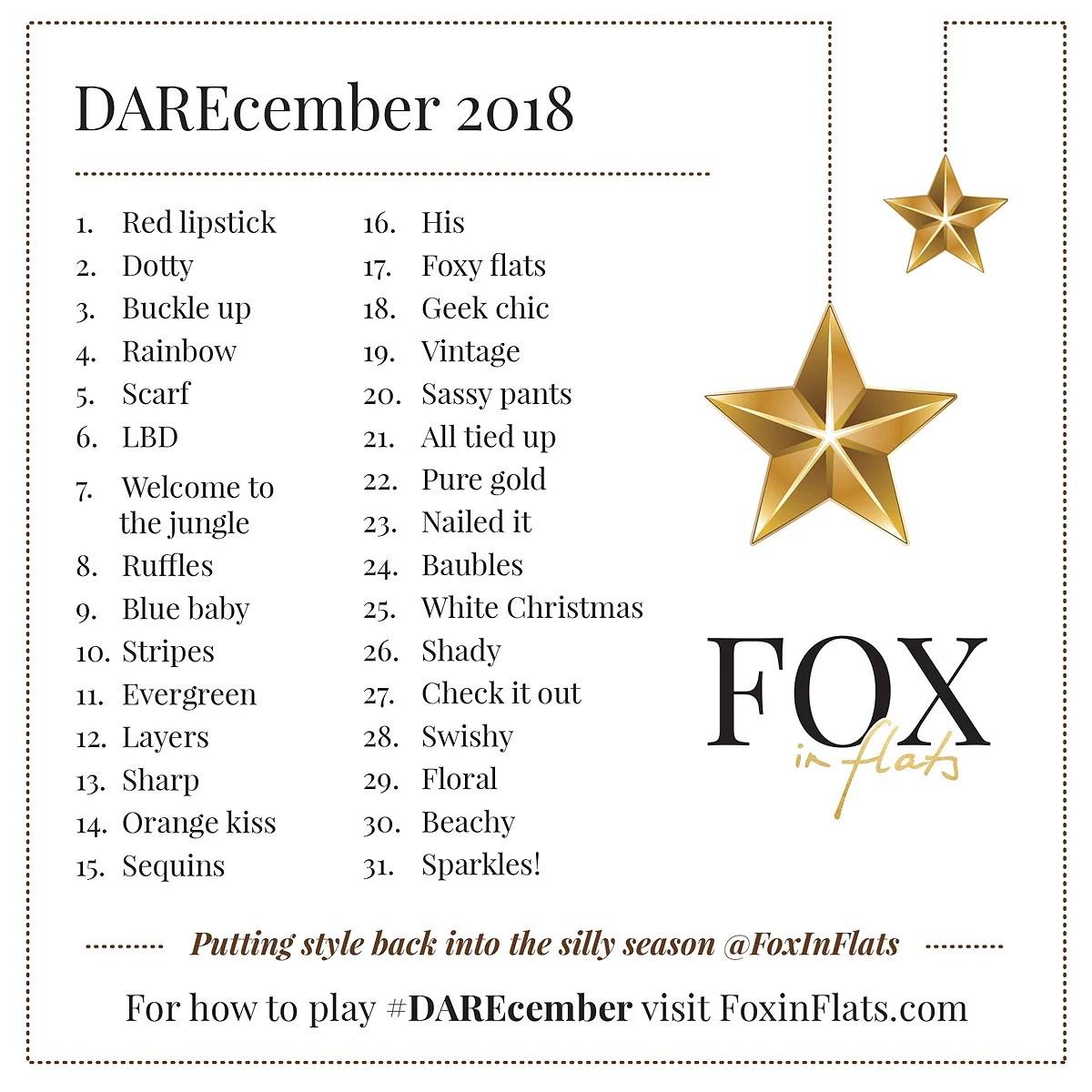 DAREcember 2018