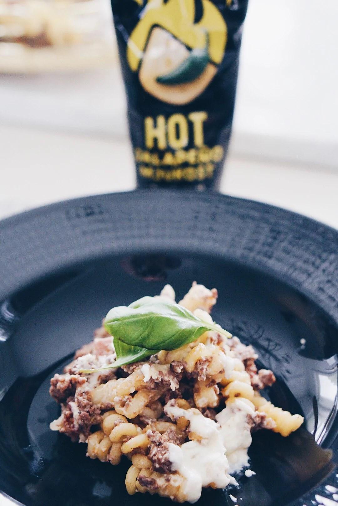 Pastagratäng med Hot Jalapeño mjukost