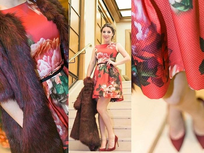 SanAndrés21 vestido floral de fiesta