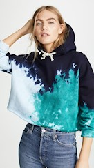 re/done tie dye sweater teal