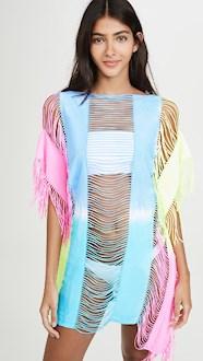 PilyQ Neon Tie Dye Cover Up Dress