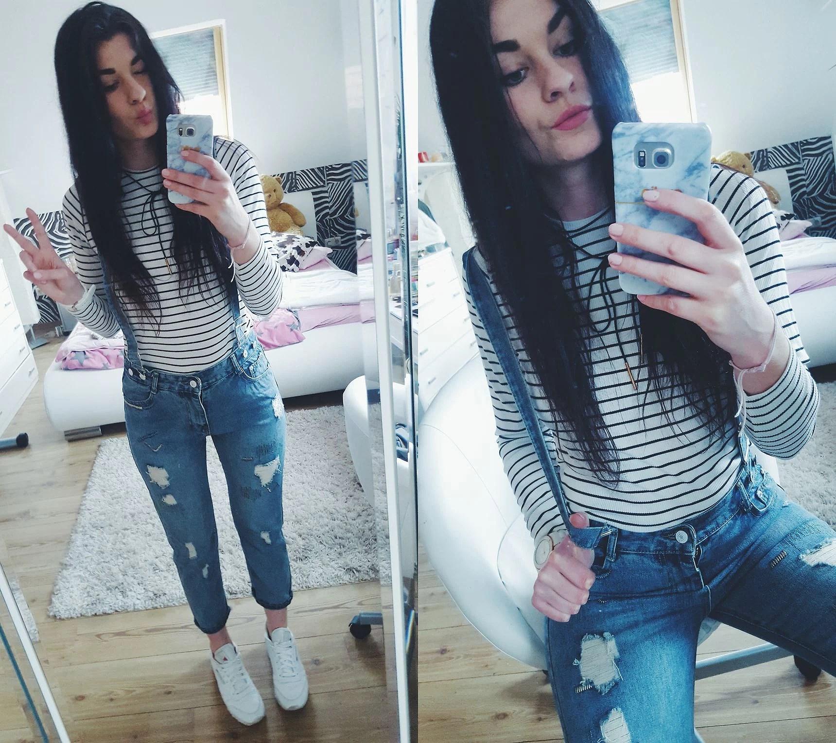 Ogrodniczki - jeans - szelki