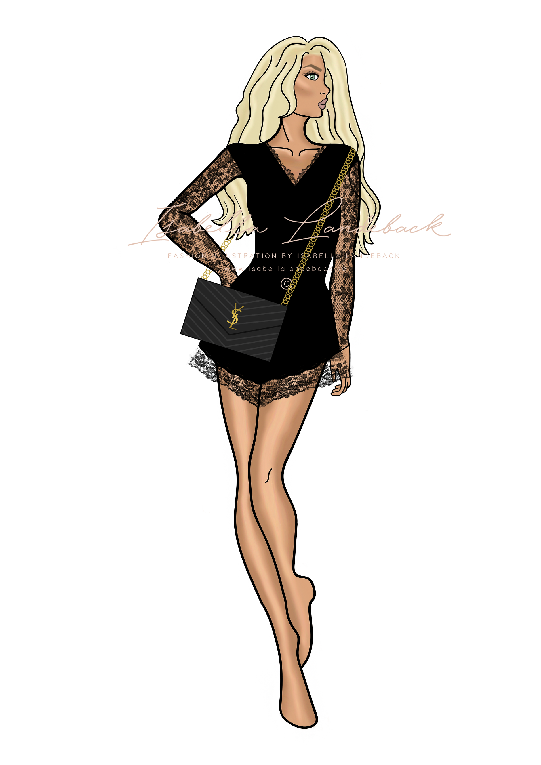 Two bloggers - fashion illustrations