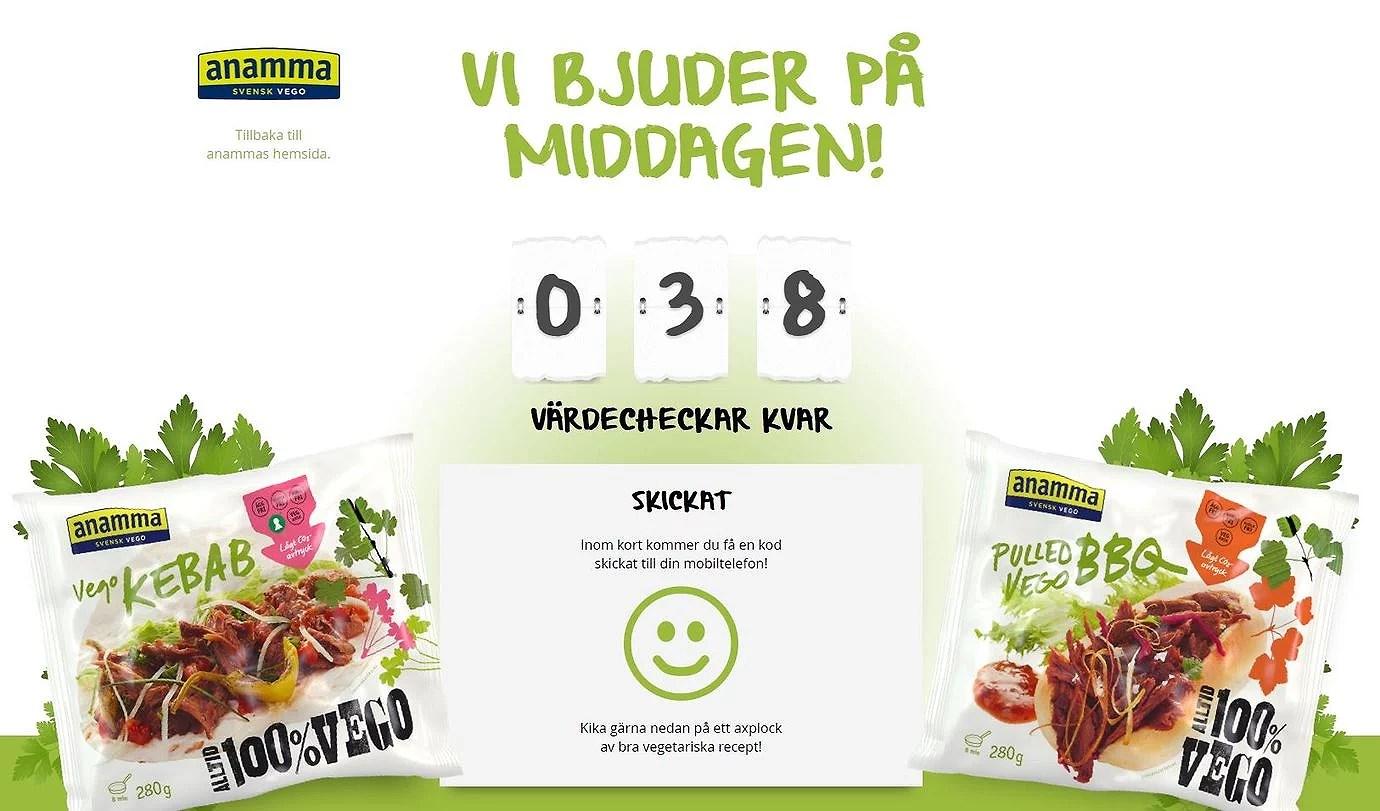 Gratis veganmat från Anamma skynda ta en kupong!!!