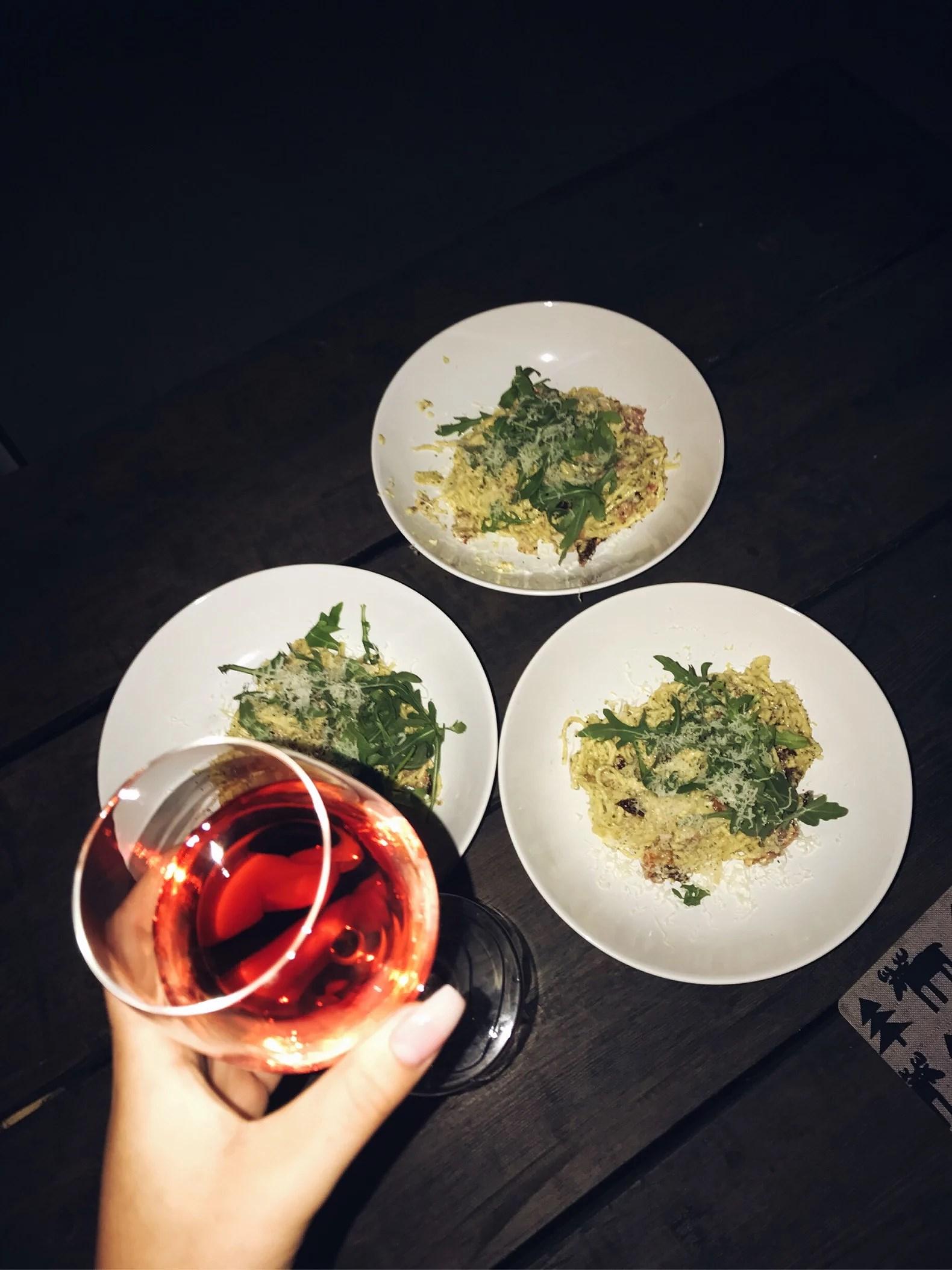 carbonara & vin