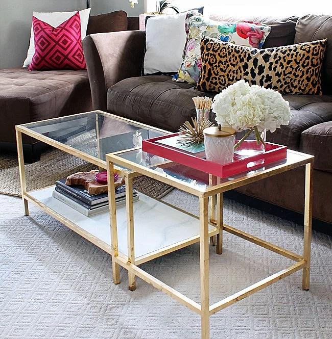 Soffbord soffbord guld : Ikea hack: Vittsjö soffbord | Cornelias interior