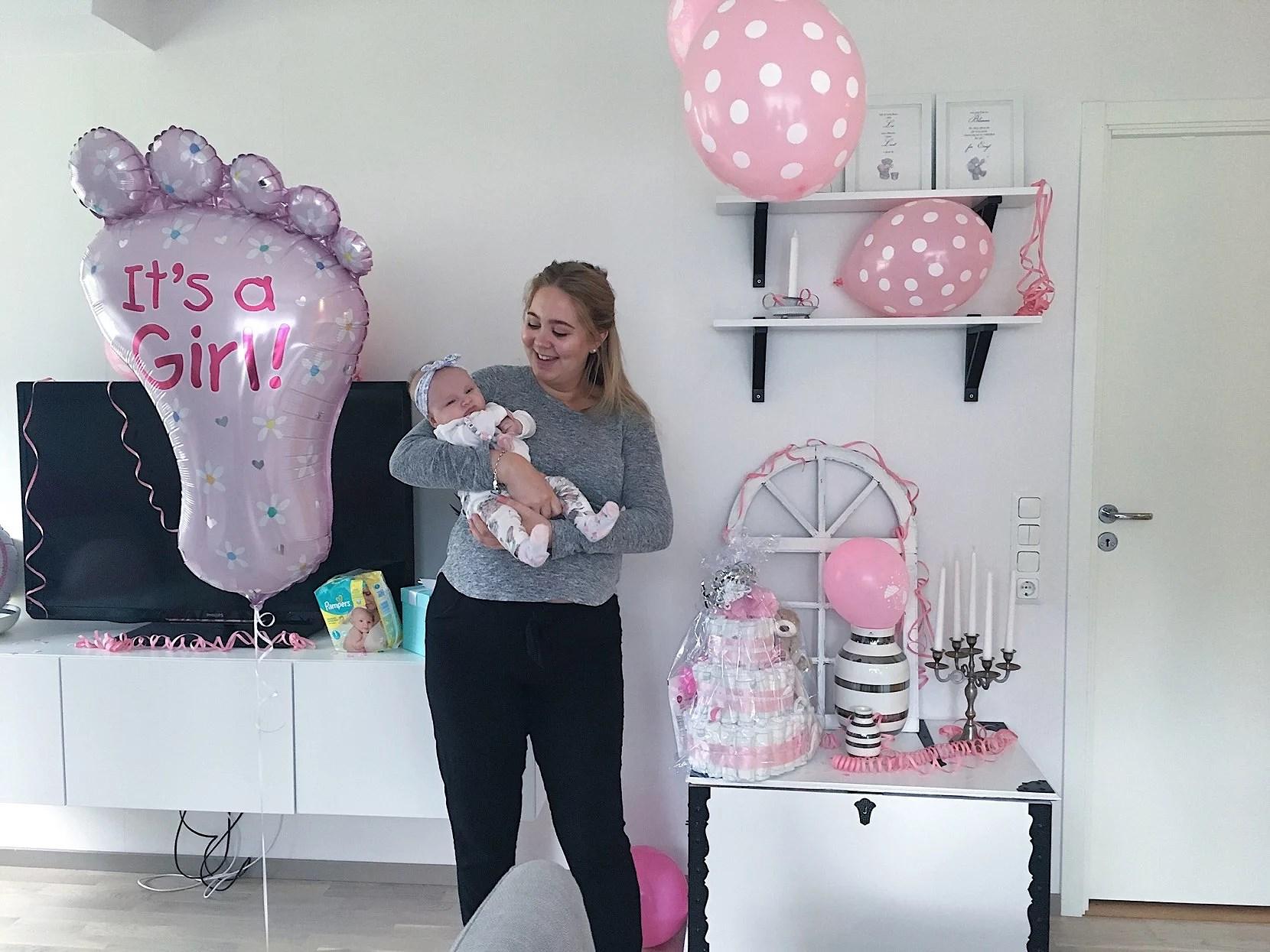 En lyckad babyshower för Linda