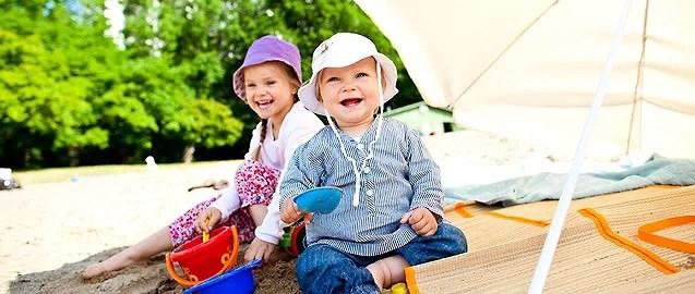 Guide; Barn i solen- Del 1 allmänna råd om barn och solskydd