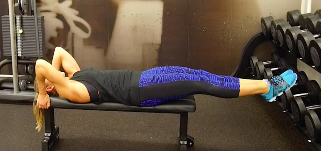 Veckans övning: höftlyft + benfall (mage)