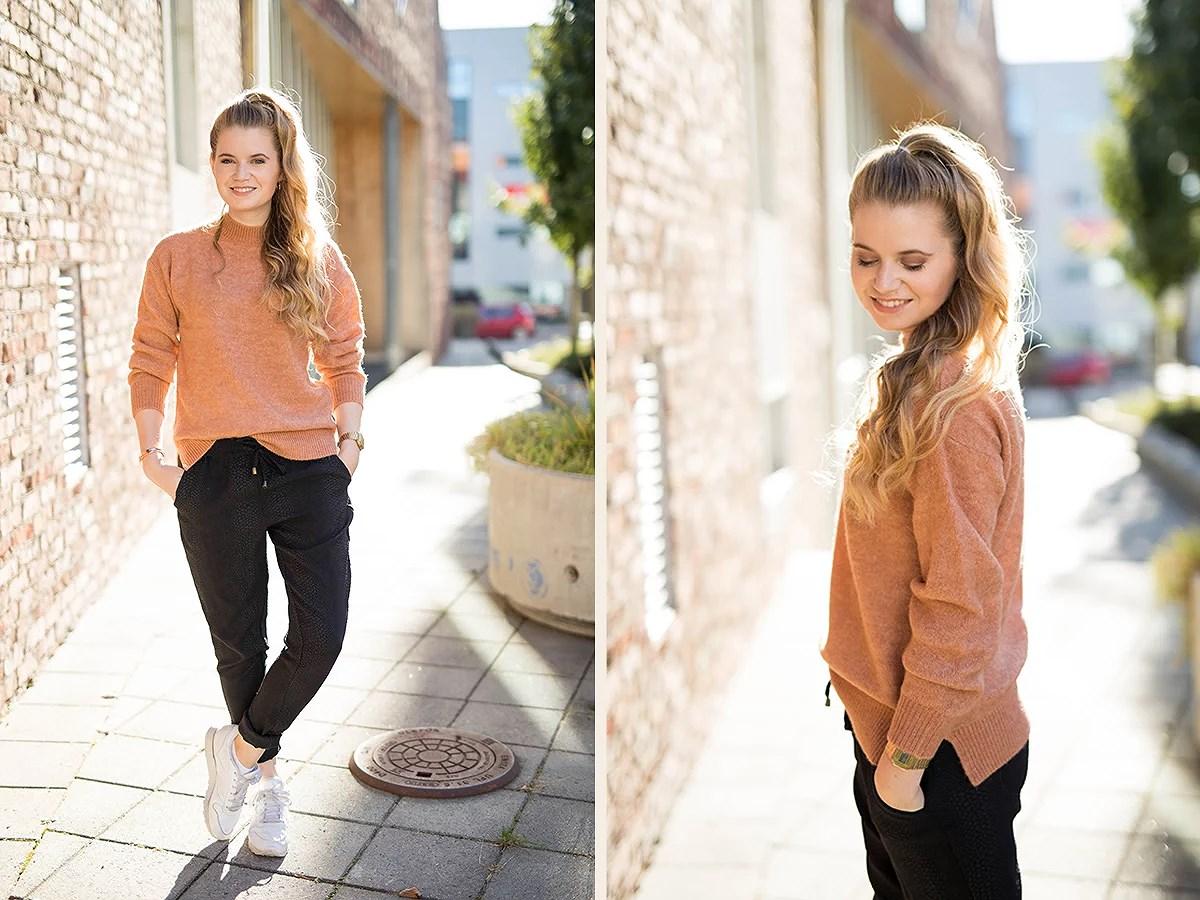 krist.in style høst 2016 orange genser