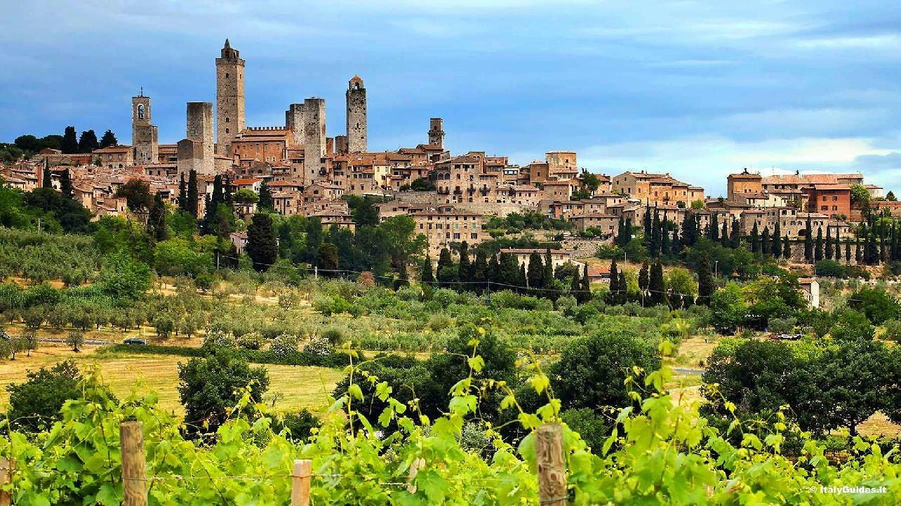 San Gimignano i Regionen Toscana i Italien