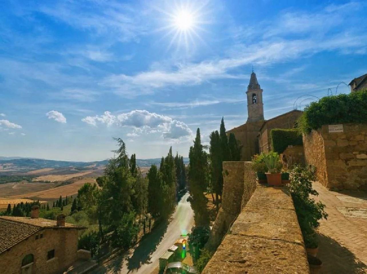 Pienza i regionen Toscana i Italien