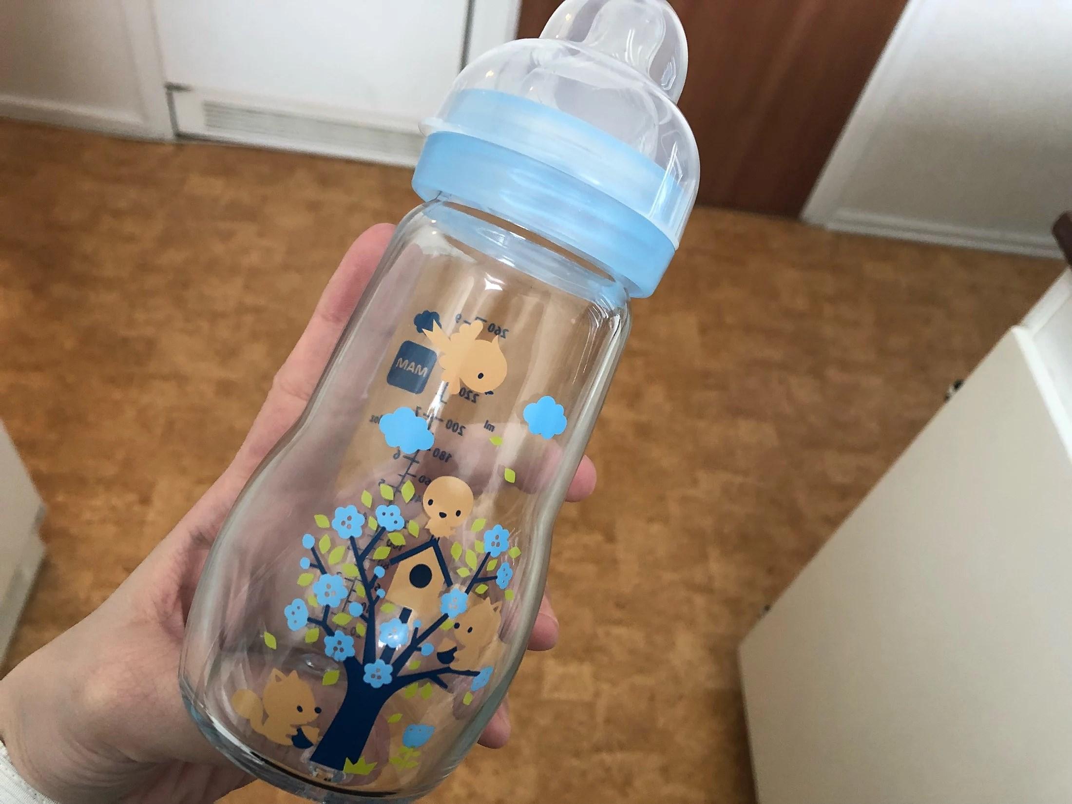 Äntligen glasnappflaska