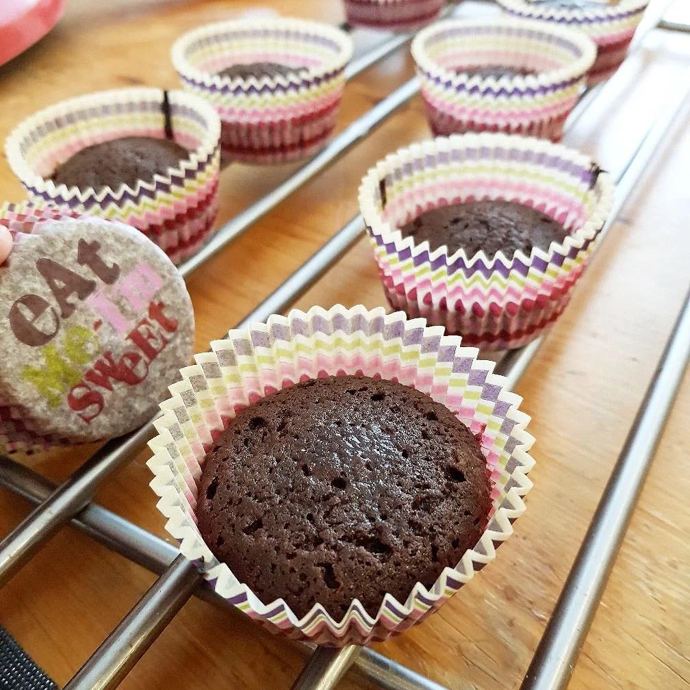 Kladdkake muffins