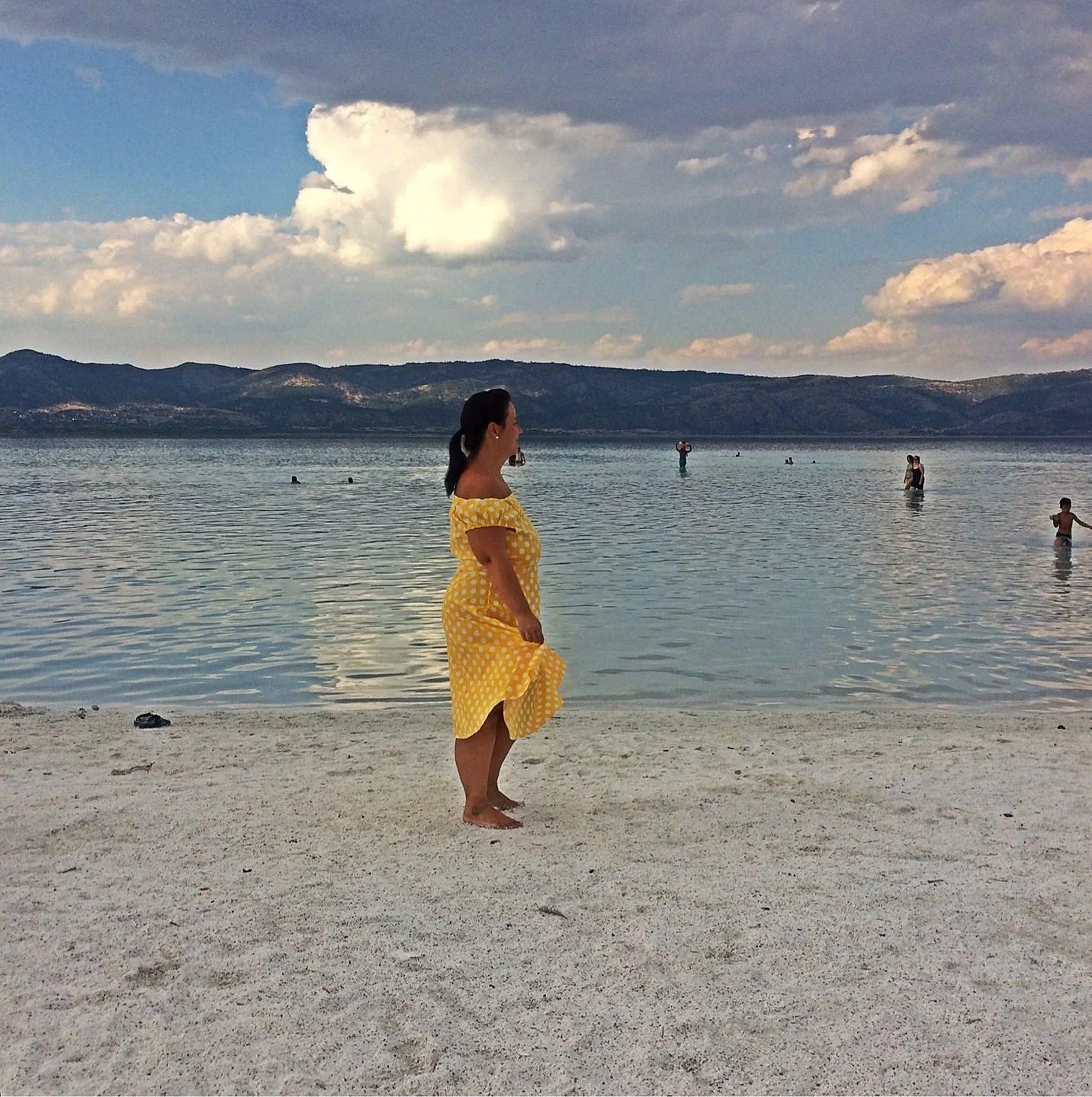 The white beach at Lake Salda