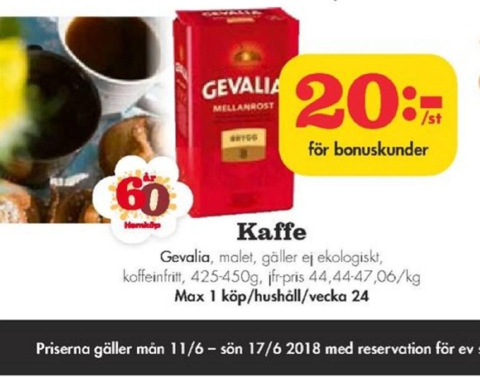 Bra kaffe klipp med kuponger nästa vecka.. Plus bra att ha Arlakuponger