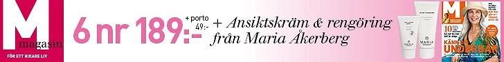 Hudvård från Maria Åkerberg med 6 nr av M Magasin