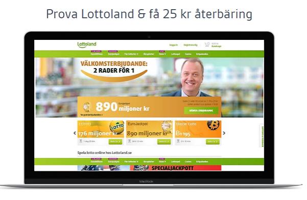 Spela för 25 kr på Lottoland , få 25 kr cashback plus 2 biobiljetter