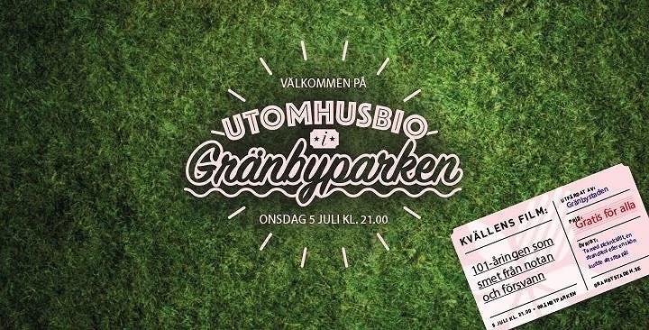Utomhusbio i Gränbyparken!