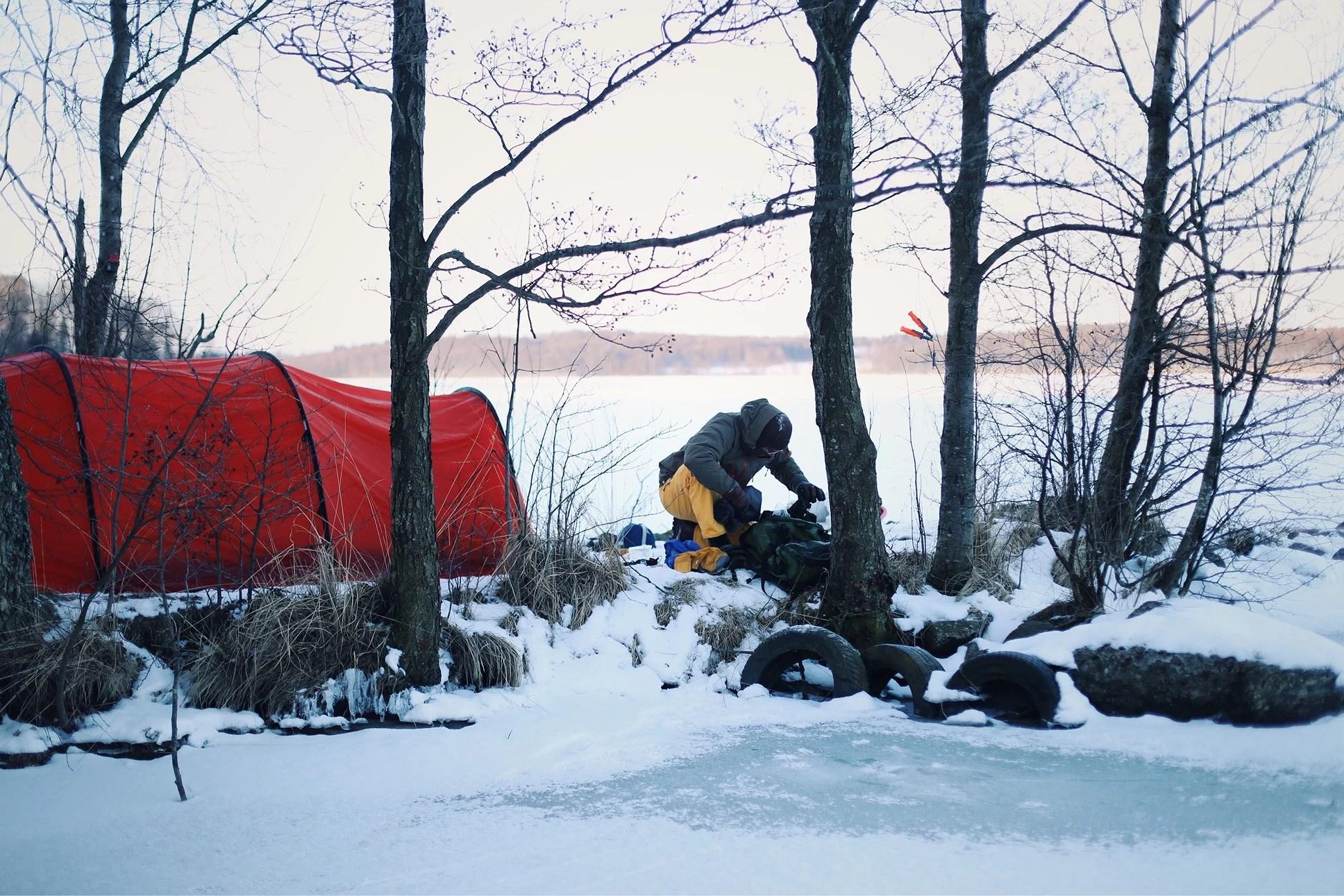 Tälta i februari