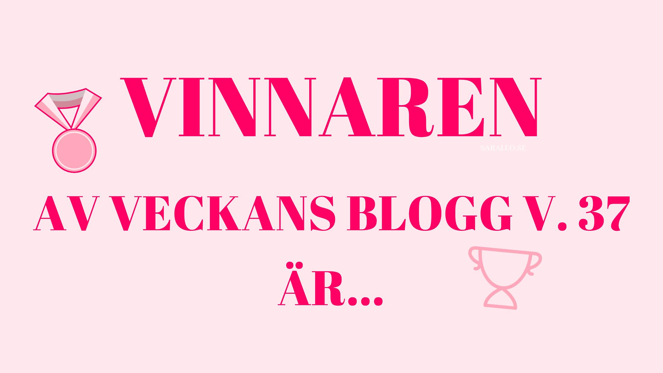 VINNAREN - VECKANS BLOGG! ★