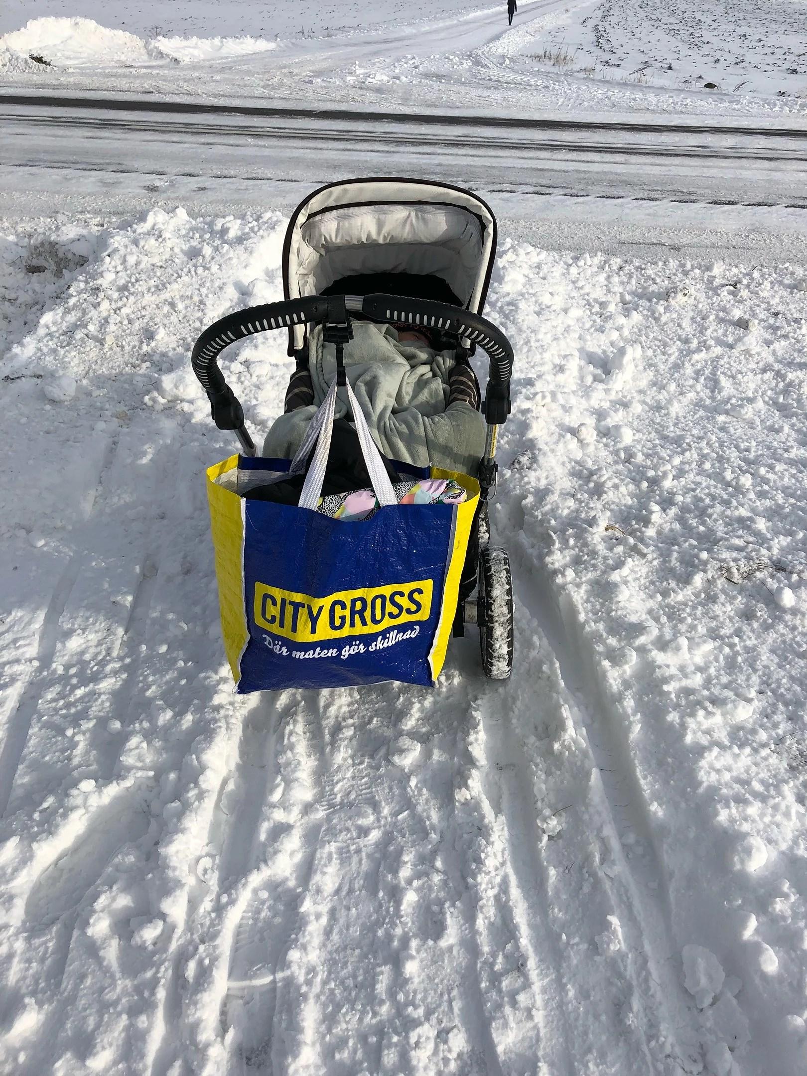 Vagnen fastnade