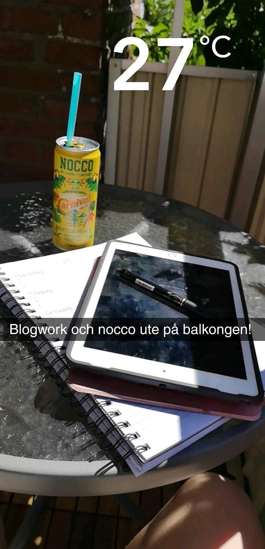 Blogwork, sol, Nocco & jobba på brännan!