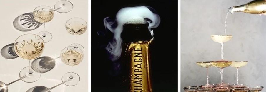 TRE LÆKRE (NYTÅRS)DRINKS MED CHAMPAGNE