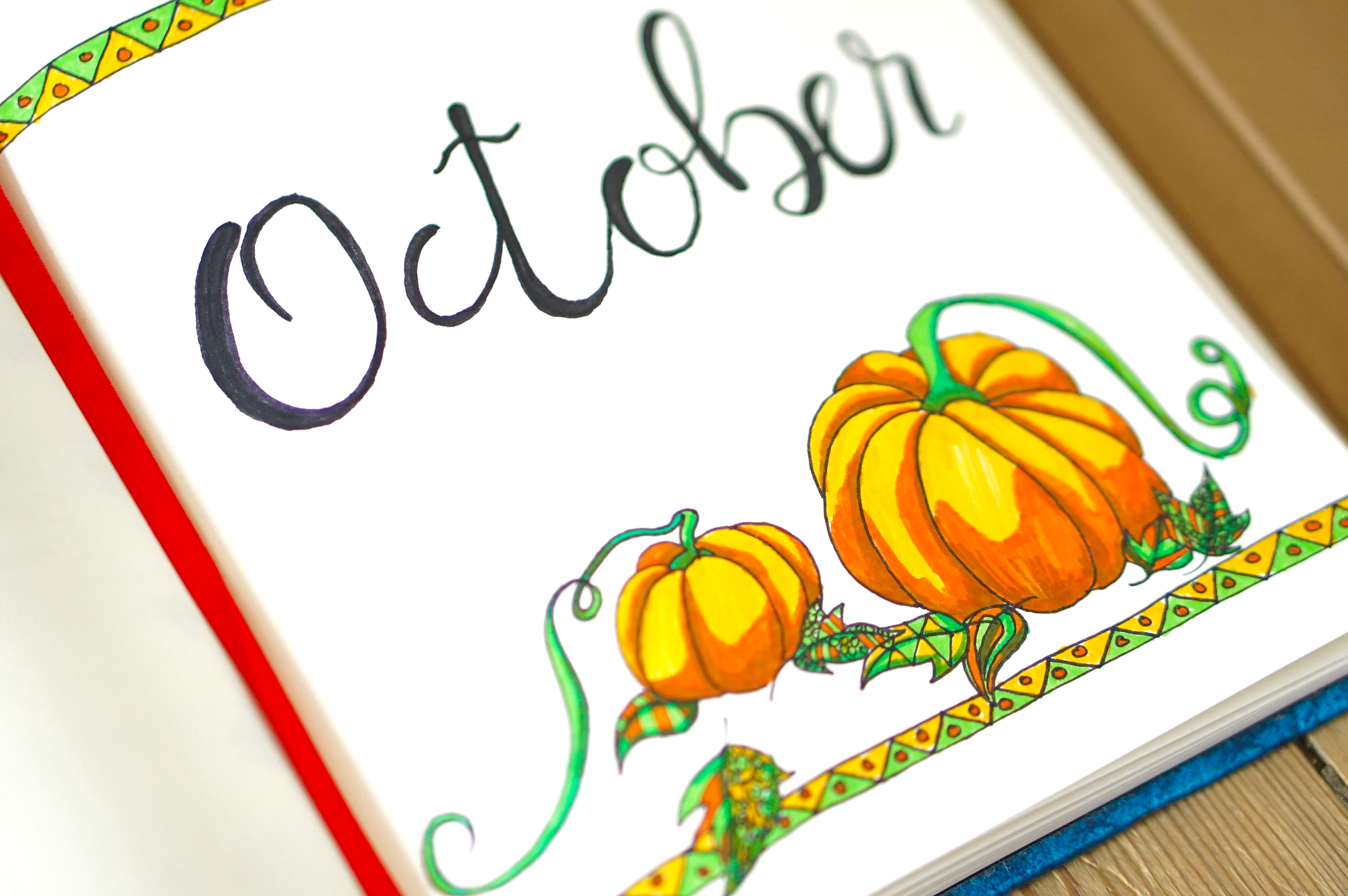 Bullet Journaling: October Pages
