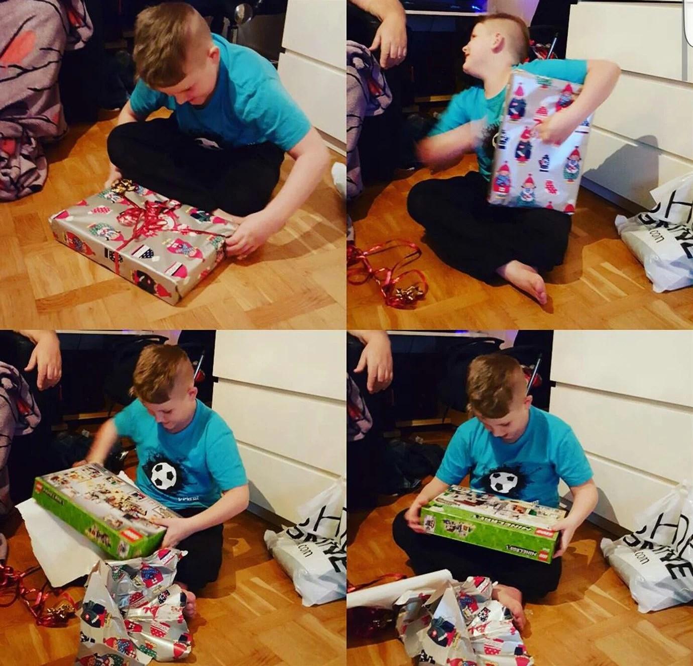 Lite julklappsöppning