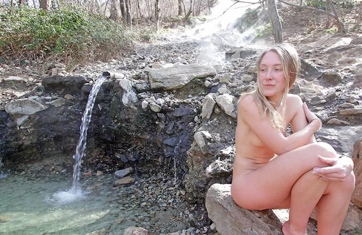 Vanlife Europe onlylifeweknow free hot spring thermal bath Pyrenees