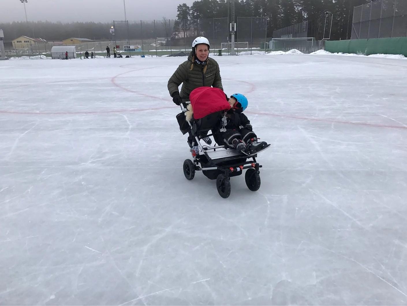 En förmiddag på isen