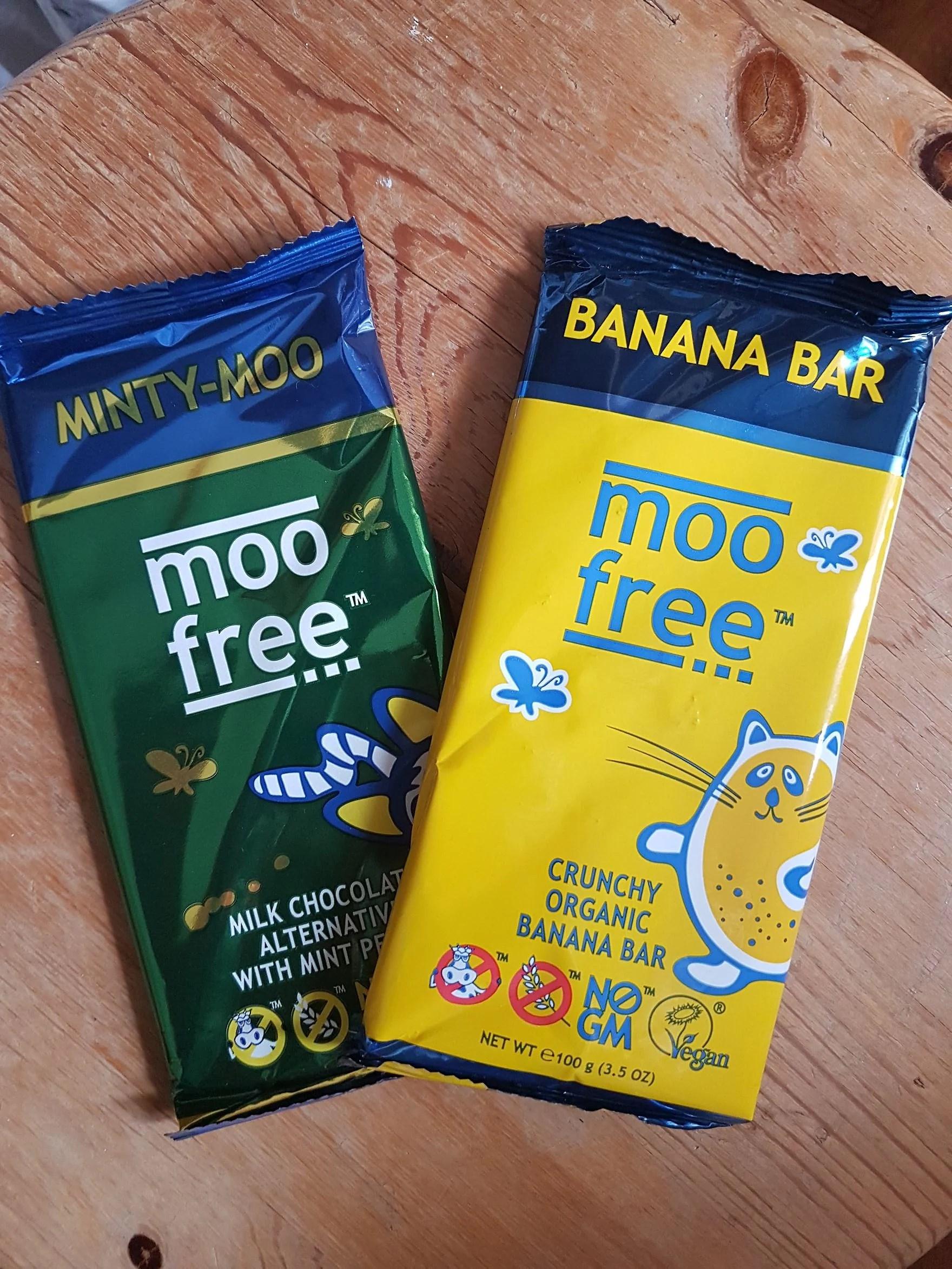 Moo free - choklad med banan och mint!