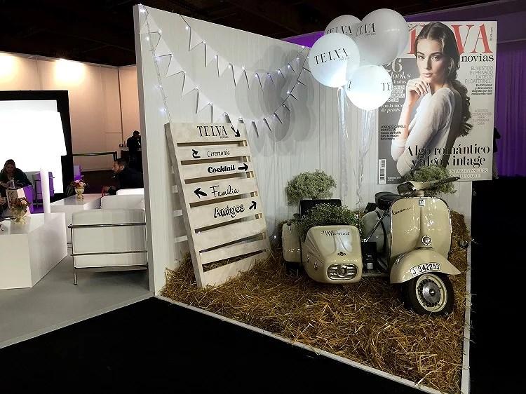 En la Bridal Week 2015 de Barcelona, Telva nos sorprende con este precioso y cuidado stand.