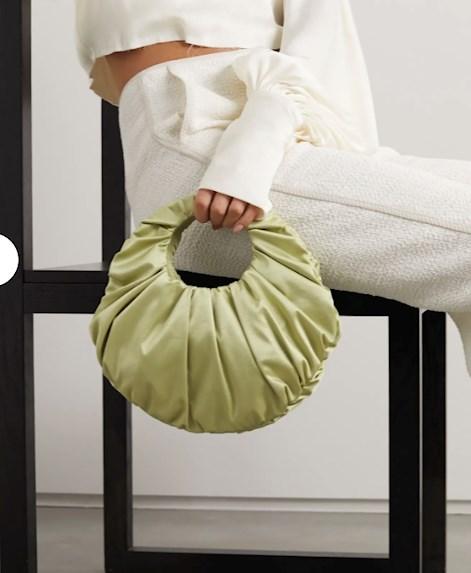 nanushka bag, lime, bio line, sage, bag, trendy bag, net a porter