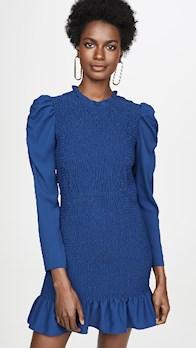 Amanda Uprichard Rhiannon Dress blue dress