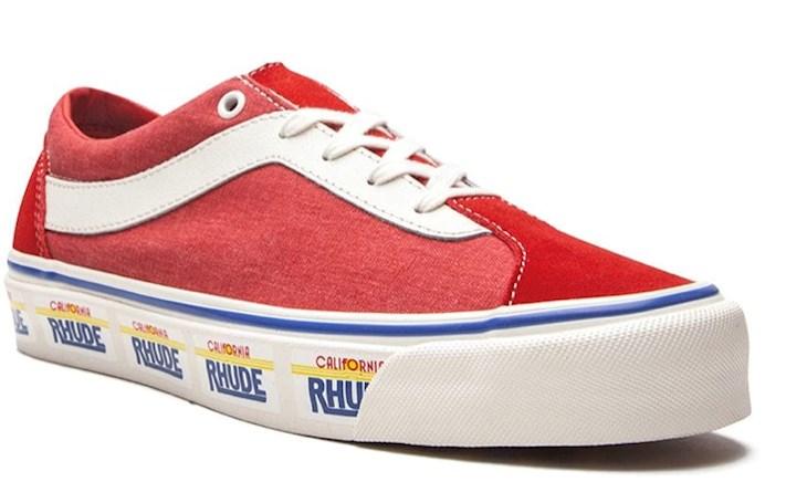 vans collaborate, vans Bold Ni x Rhude low-top sneakers