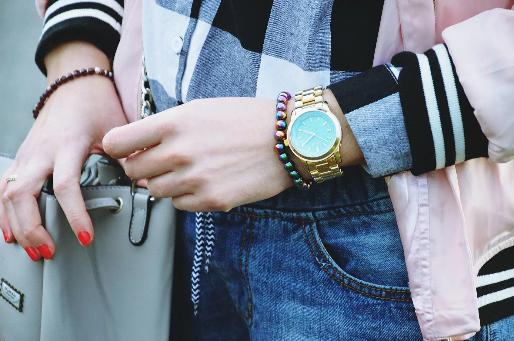 butik, zegarek, watch, koszula, krata