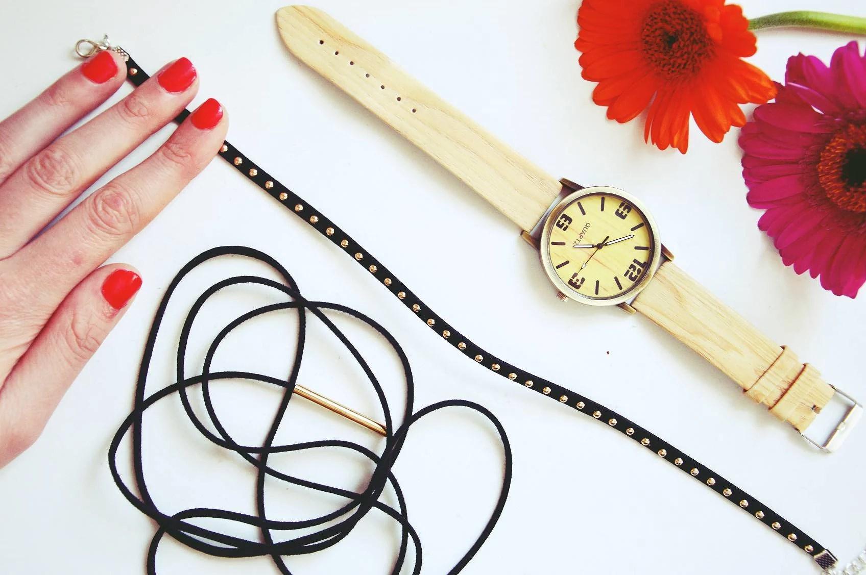 naszyjnik, obroża, watch, zegarek, fashion, moda, magiclovv, paznokcie, gadżety,