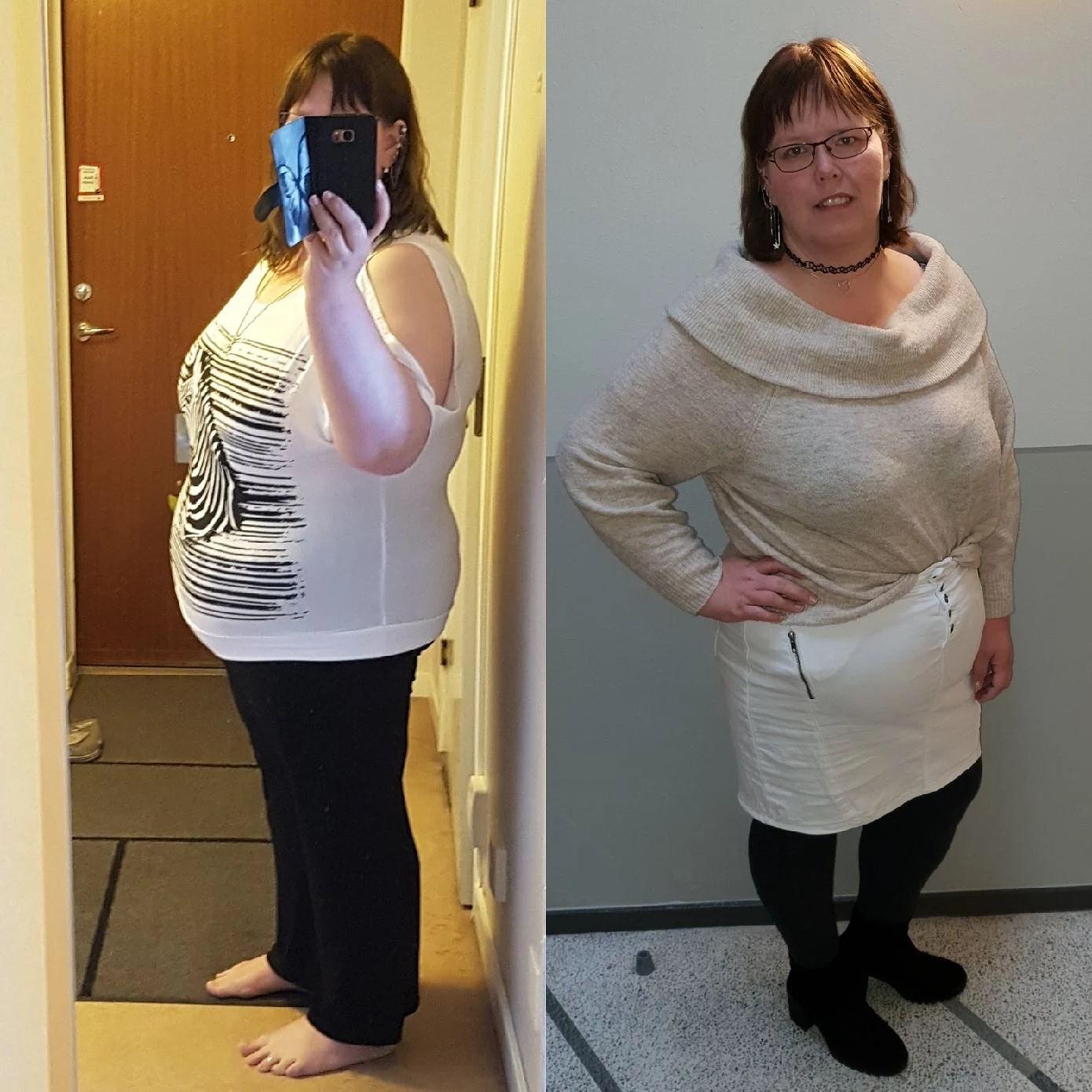 Gått ned 35 kg hittills