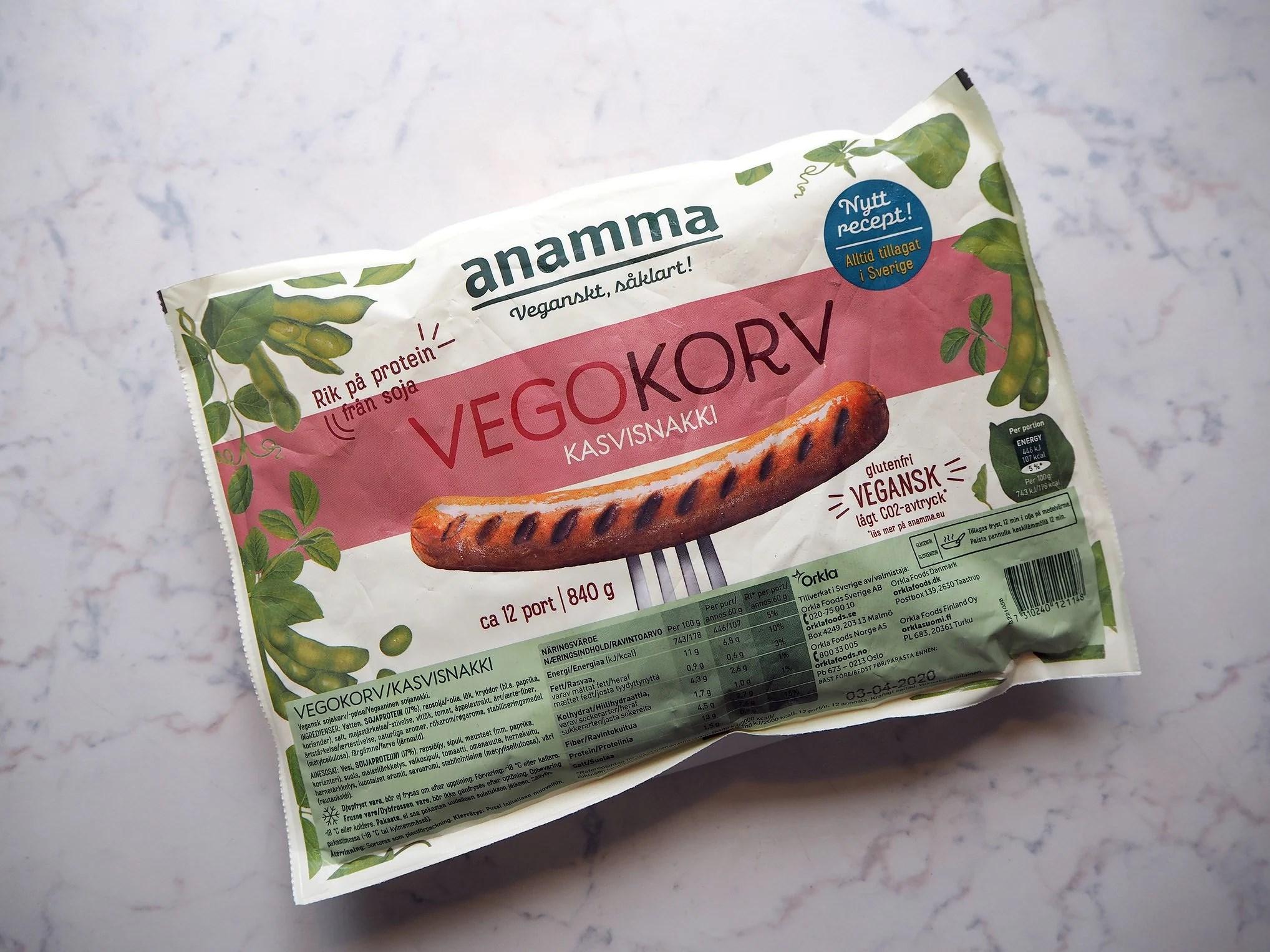 Malin testar - Vegan korv