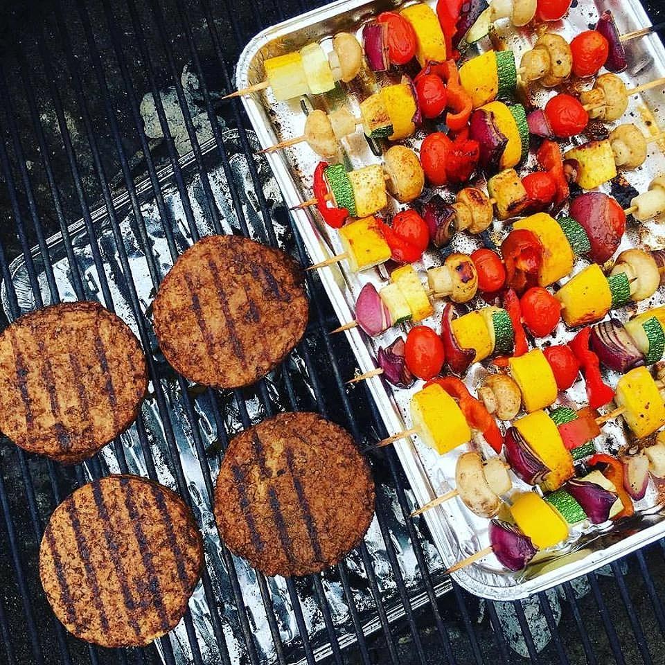 Vegansk grillmad: grøntsagsspyd