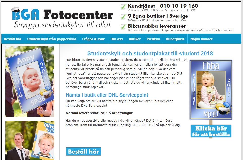 Köp studentskylten hos BGA Fotocenter