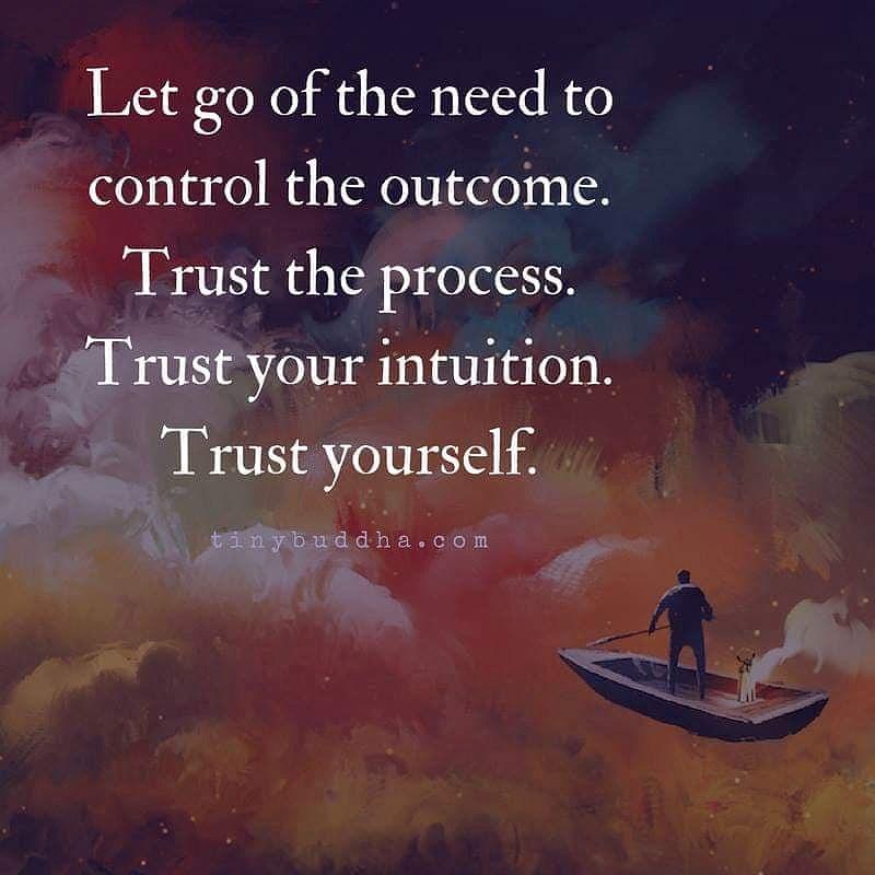 Släpp behovet av att kontrollera resultatet.