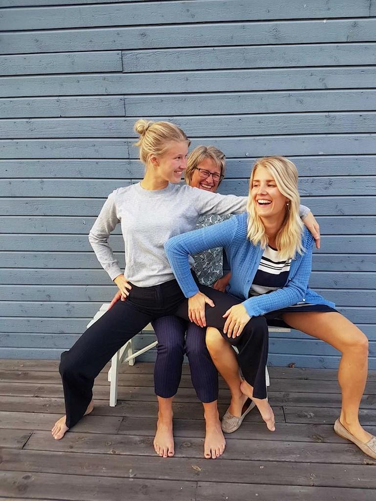 Isabell Back, Eva Back och Sara Back